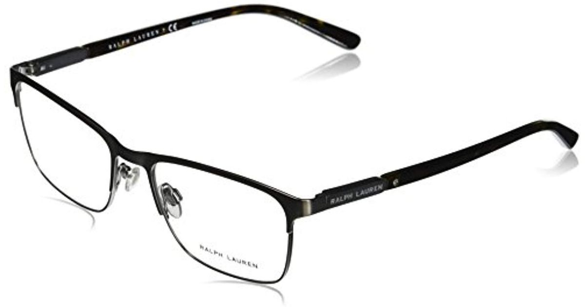 166183775 Ralph By Ralph Lauren Ralph Lauren Sunglasses Metal Man Optical Frame Square  Sunglasses, Gunmetal Brushed Matte, 55 Mm for Men - Save 28% - Lyst