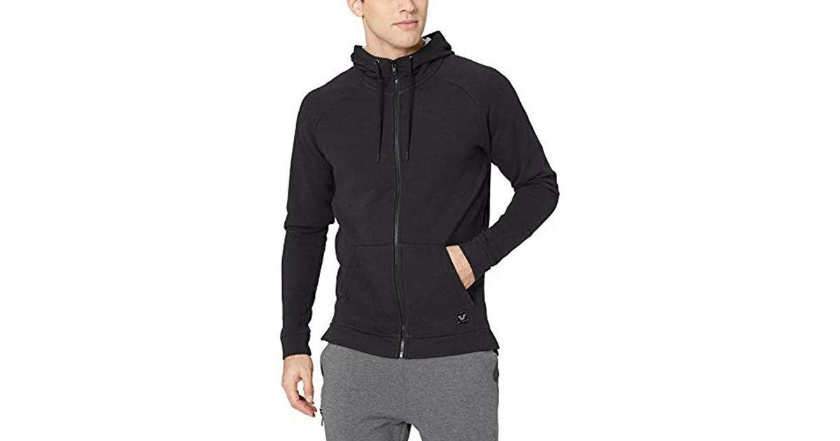 Brand Peak Velocity Mens Quantum Fleece Full-Zip Loose-Fit Hoodie