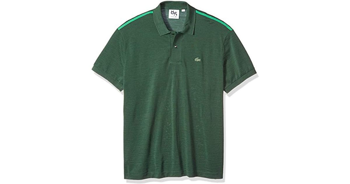 Lacoste Lyst Green Anni Sleeve Uni Short Men PoloPh4781 85th For Merino Wool mN8nw0