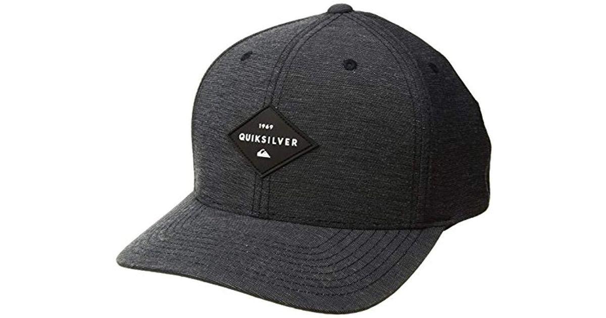 brand new 96212 1e486 Lyst - Quiksilver Union Heather Sb Trucker Hat in Black for Men
