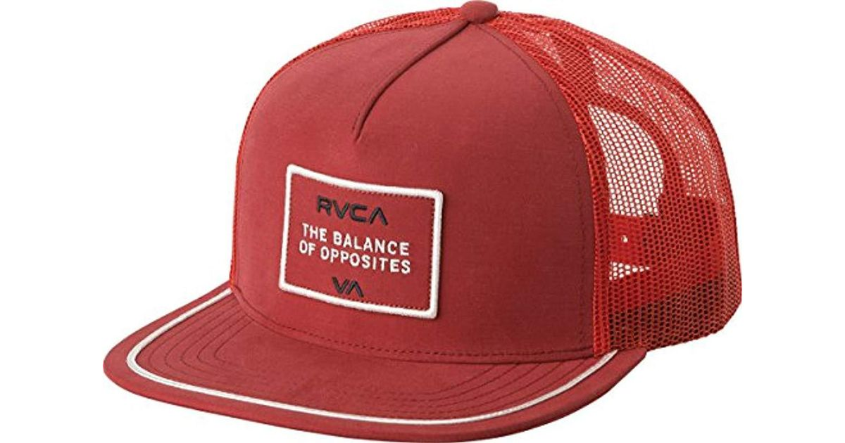 b5792ddc7c2bd RVCA Billboard Trucker Hat in Red for Men - Lyst