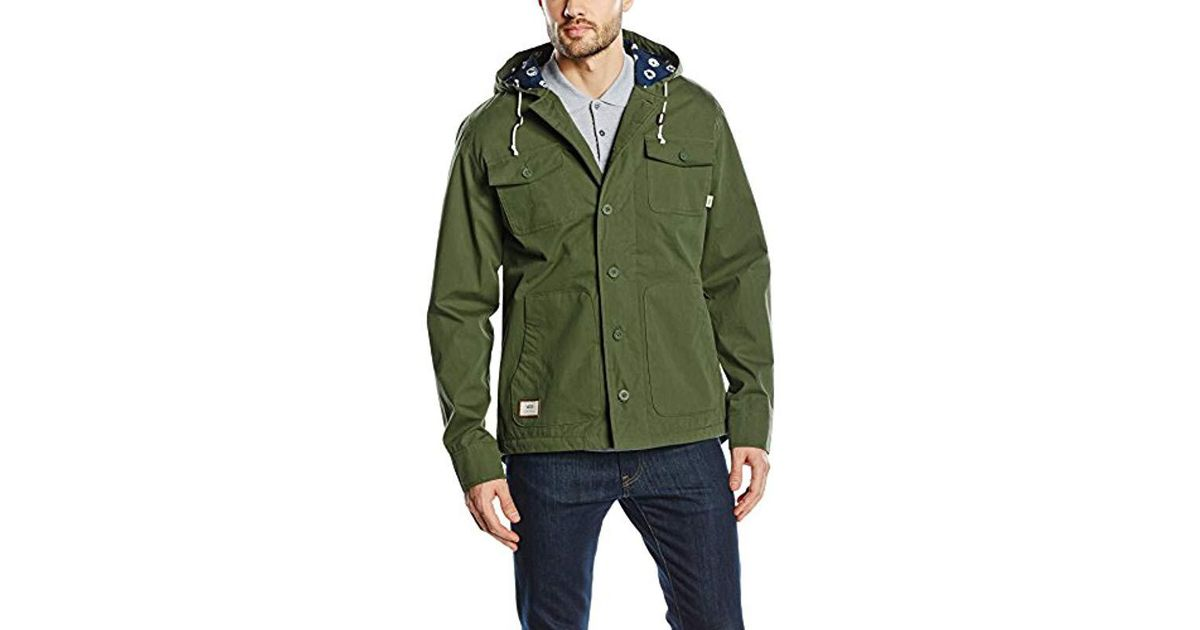 1d56e0848bb588 Vans Lismore Deluxe Long Sleeve Jacket in Green for Men - Lyst