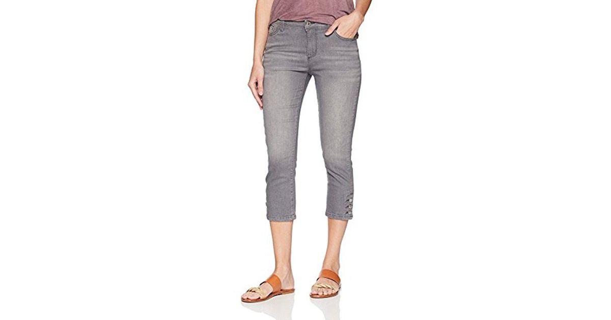 bb9e7077df4 Lyst - Lee Jeans Modern Series Midrise Fit Jayla Capri Jean in Gray