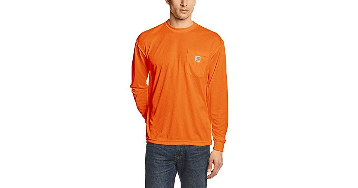 2c34801ed58c Lyst - Carhartt High Visibility Force Color Enhanced Long Sleeve Tee in  Orange for Men - Save 21%