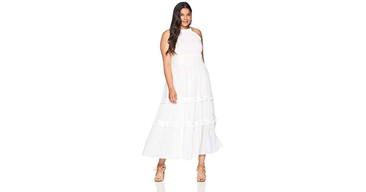 13881319 Eliza J Plus Size Halter Maxi Dress in White - Save 66% - Lyst