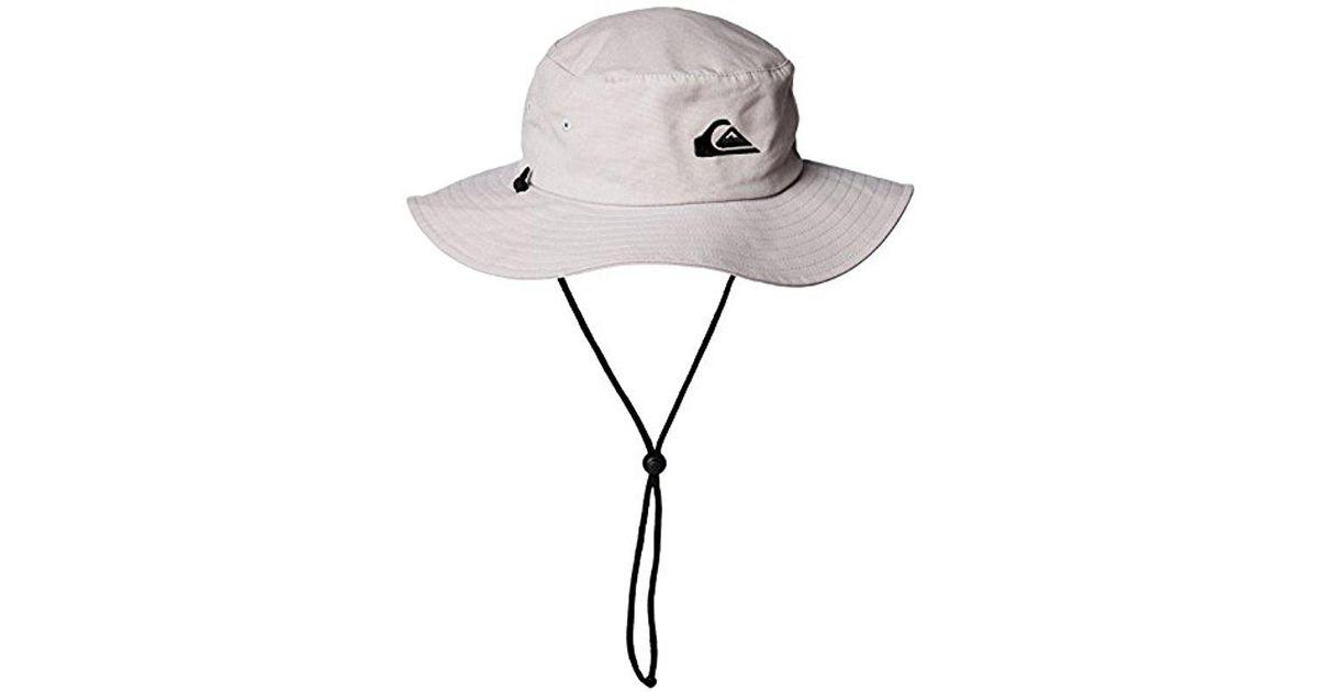 04eb786e ... sale lyst quiksilver bushmaster floppy sun beach hat for men 9d028 9ab11