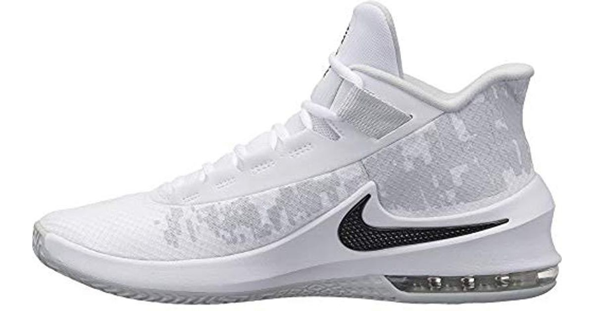 save off ddf88 2fb29 Nike Air Max Infuriate 2 Mid Fitness Shoes in White for Men - Lyst