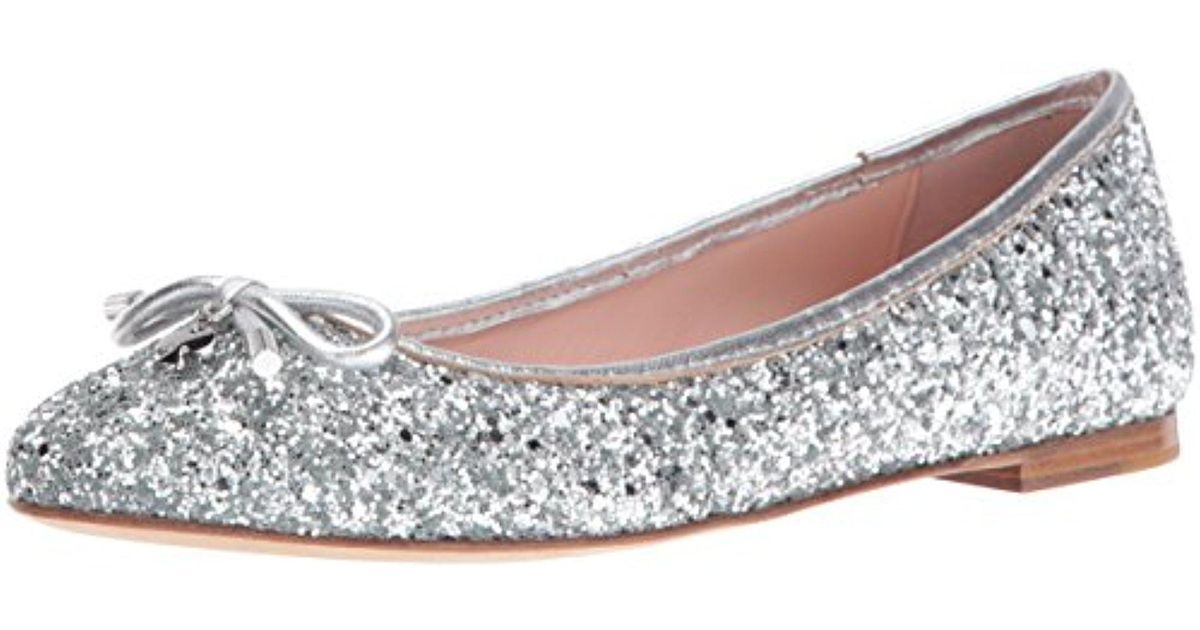 70c1b4ed3608 Lyst - Kate Spade Willa Ballet Flat in Metallic