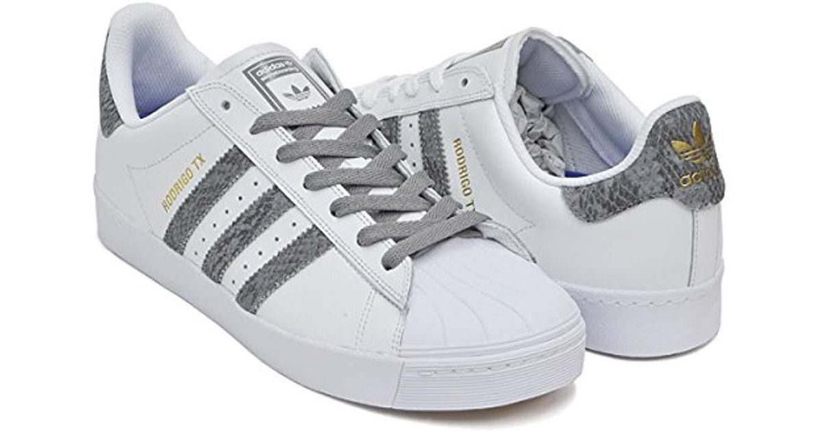 new style 1d793 edc57 Adidas Originals - Gray Superstar Vulc Adv Shoes for Men - Lyst