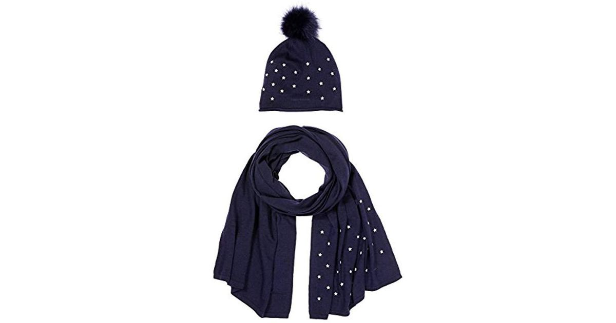 Tommy Hilfiger Stars Scarf   Beanie Holiday Giftpack, Hat   Glove Set, Blue  Navy 413, One Size in Blue - Lyst 648700a51ae