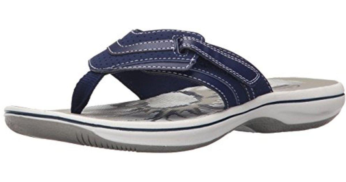 570df2d1b66cbe Lyst - Clarks Brinkley Keeley Flip-flop in Blue