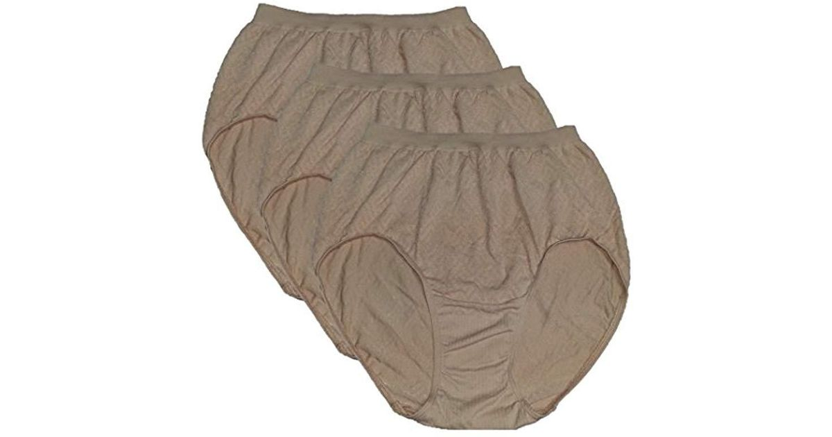 760ef0a94c1 Lyst - Bali Comfort Revolution Brief Panty (3-pack) in Natural
