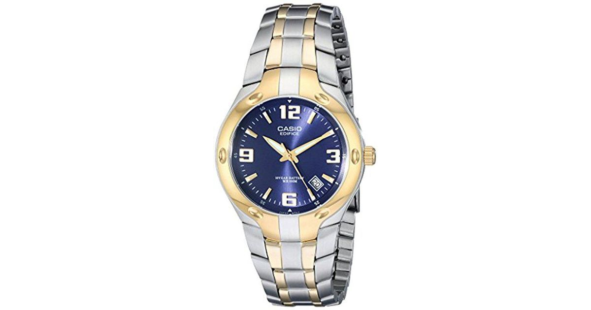 Lyst - G-Shock Ef106sg-2av Edifice Two-tone Stainless Steel Watch in Blue  for Men - Save 2.941176470588232% 7492a15f7585