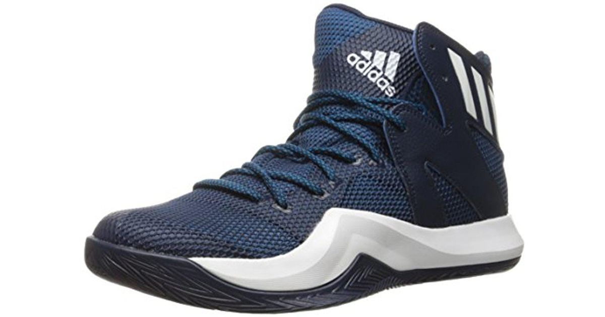 lyst adidas performance pazzo rimbalzare basket scarpa blu per gli uomini.