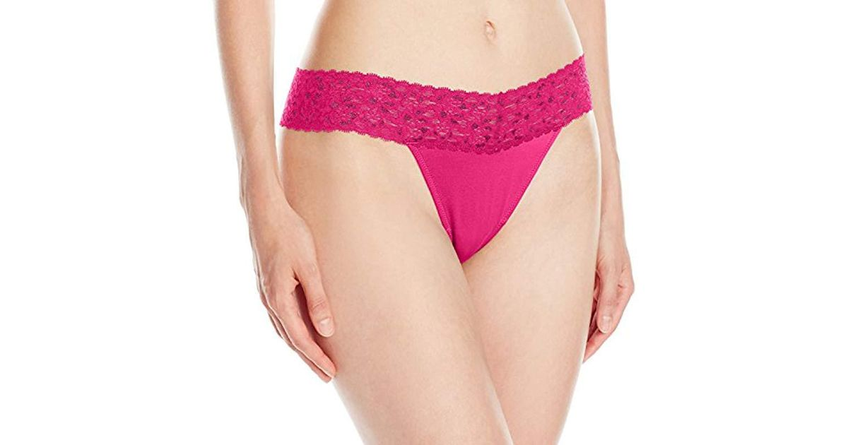 6fd105e358 Lyst - Maidenform S Dream Lace Thong Panty in Pink