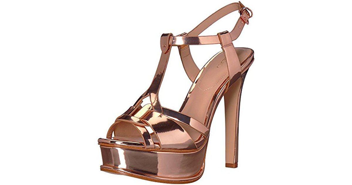8b32ad0df90c Lyst - ALDO Chelly Heeled Sandal