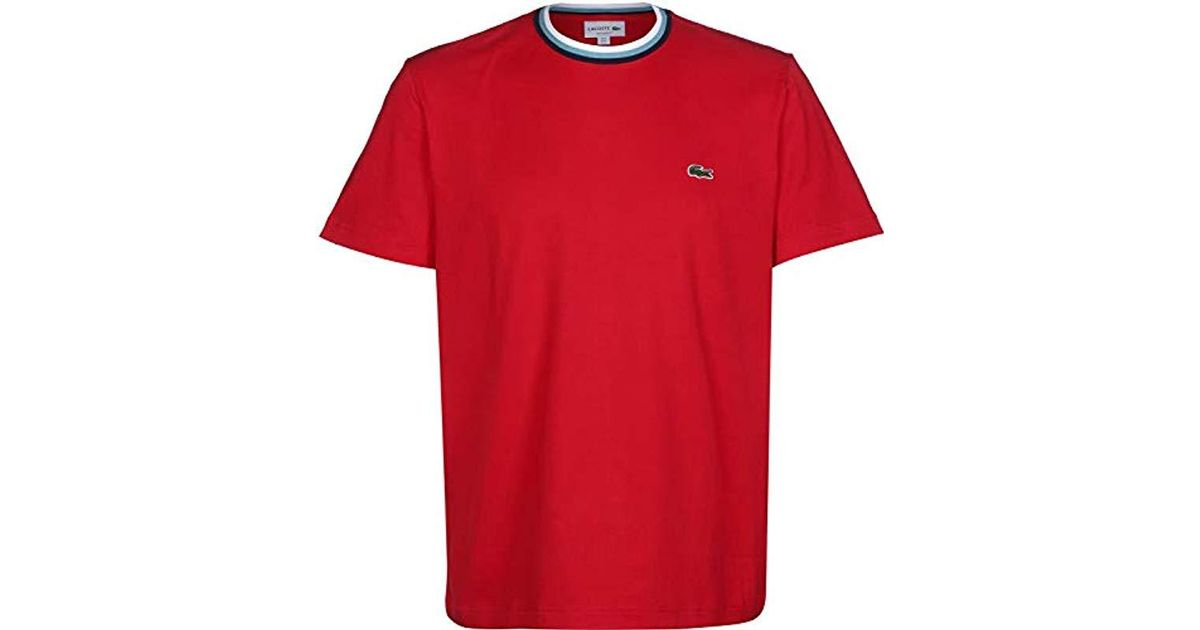 In Lacoste Men Red For Lyst T Shirt kOnw0P