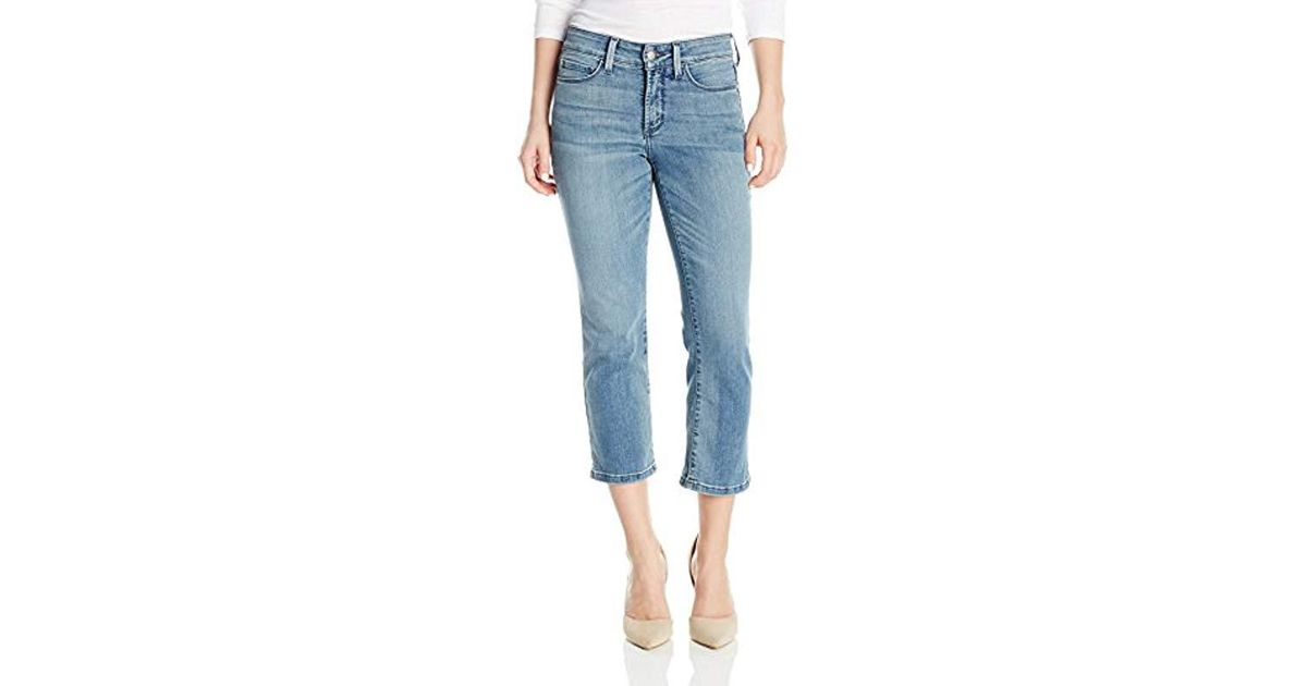 674594b87ce Lyst - NYDJ Petite Size Billie Ankle Bootcut Jeans, Clean Paloma, 6p in Blue