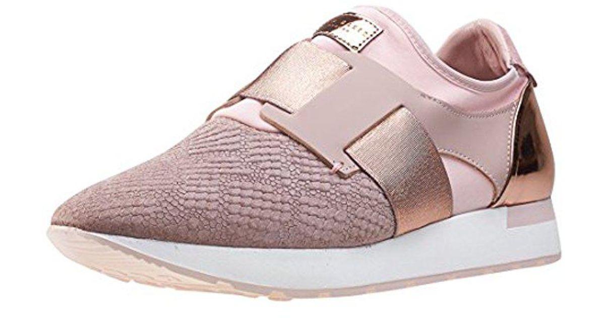 02a676b7d9ef Lyst - Ted Baker Kygoa Lthr Af Grey lt Pink Sneaker