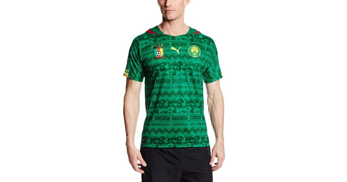 bf00172b9 PUMA Cameroon Home Replica Soccer Jersey in Green for Men - Lyst