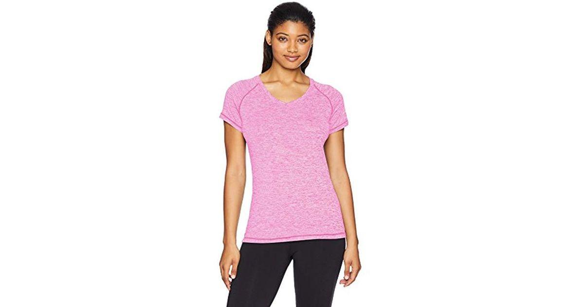 d3480c8a5e1 Danskin Plus Size Heather Active V-neck T-shirt in Purple - Lyst
