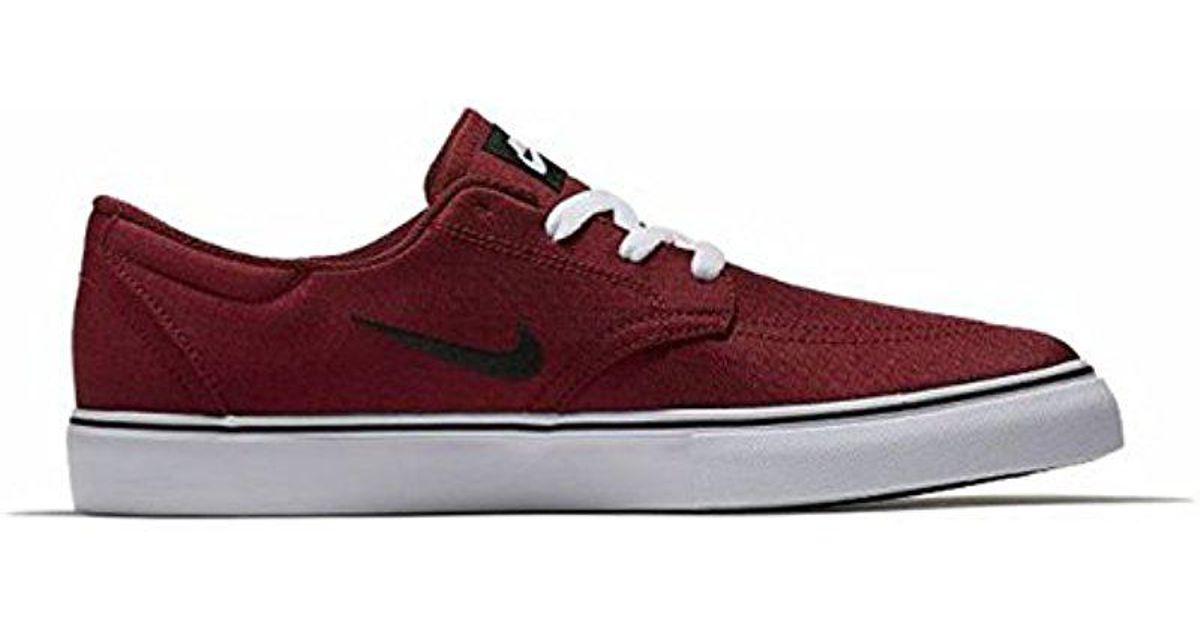 lyst nike sb frizione con lo skateboard scarpe in rosso per gli uomini.