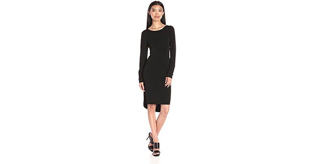 25057657efc6 Lyst - BCBGMAXAZRIA Bcbgmax Azria Celia Long Sleeve T Shirt Dress in Black  - Save 60%