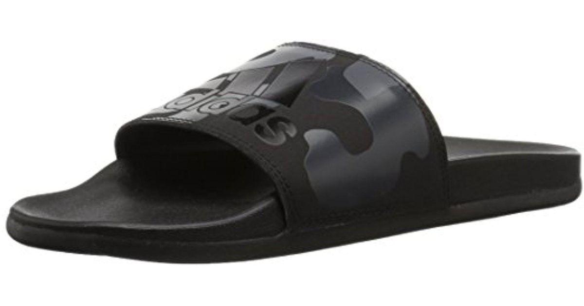 10d9624678e063 Lyst - adidas Adilette Cf+ Link Gr Slide Sandal in Black for Men