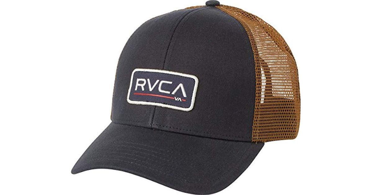 pretty nice 0962b 17731 Lyst - Rvca Ticket Trucker Hat in Blue for Men