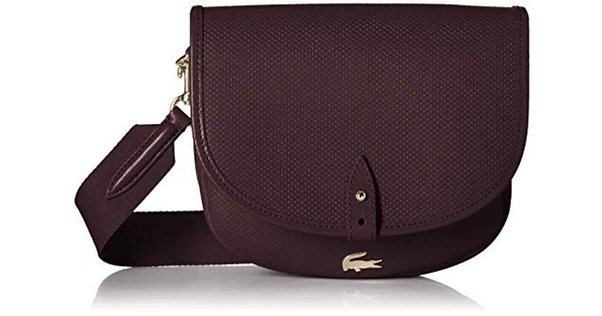 646518758c0b88 Lyst - Lacoste Chantaco Round Crossover Bag