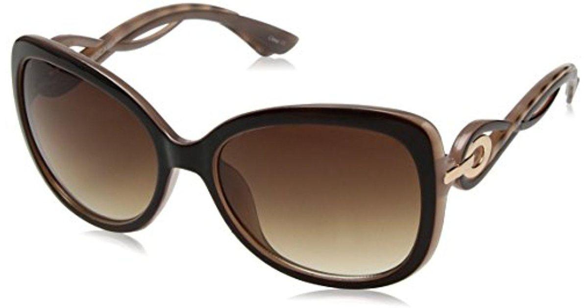 788ab0c3e59 Lyst - Sam Edelman Rocawear R3195 Bran Cateye Sunglasses in Brown