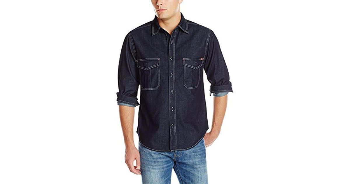da8f7afbfc Woolrich Hemlock Denim Shirt in Blue for Men - Lyst