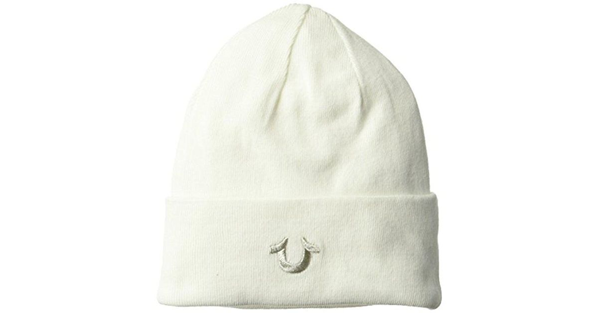 Lyst - True Religion Cotton Watchcap in White for Men c0a0bac284f5