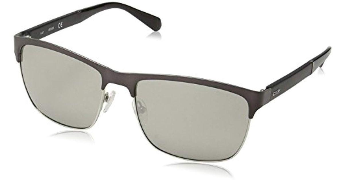 9810938d6b1 Lyst - Guess Gu6892 Rectangular Sunglasses