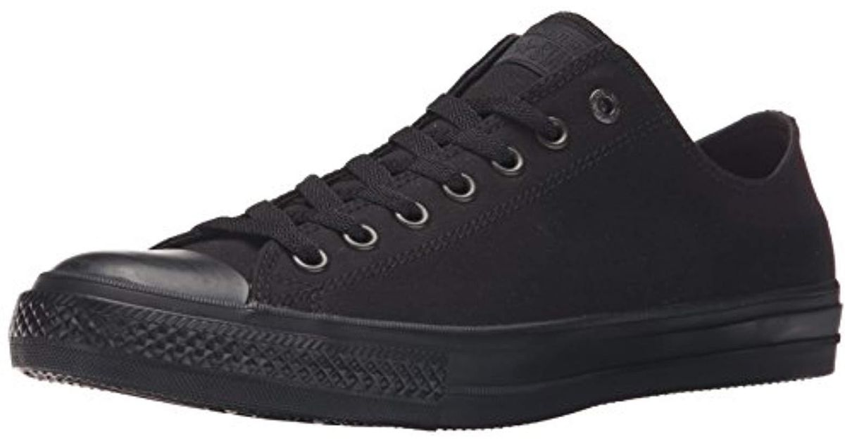 bae95853c93561 Lyst - Converse Chuck Taylor All Star Canvas Low Top Sneaker in Black