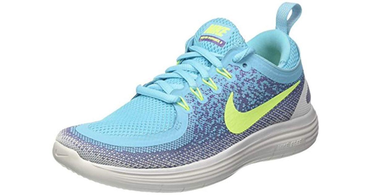hot sales 16fbb 89c4f Nike - Free Run Distance 2 Training Shoes, (polarized Blue/volt/iron Purple  Earth), 3.5 Uk - Lyst