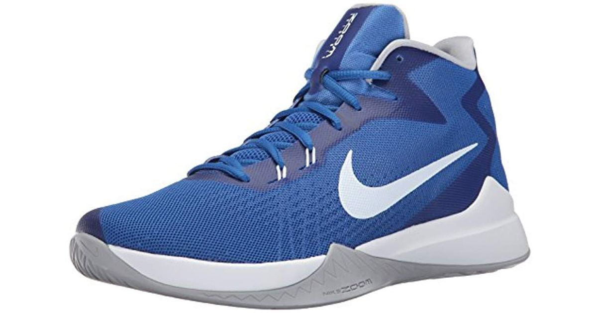 brand new 163f3 d6428 Lyst - Nike Zoom Evidence Basketball Shoes in Blue for Men