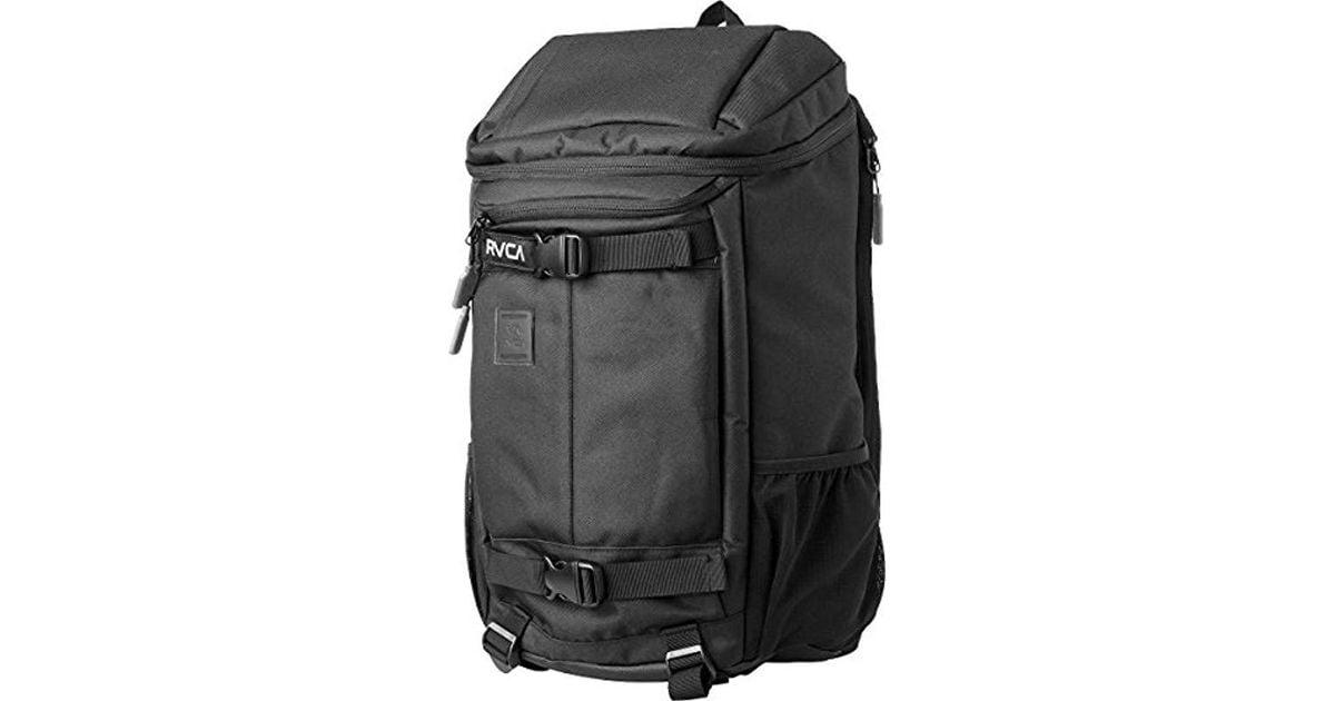Lyst - Rvca Voyage Skate Backpack in Black for Men ef311771cbd92