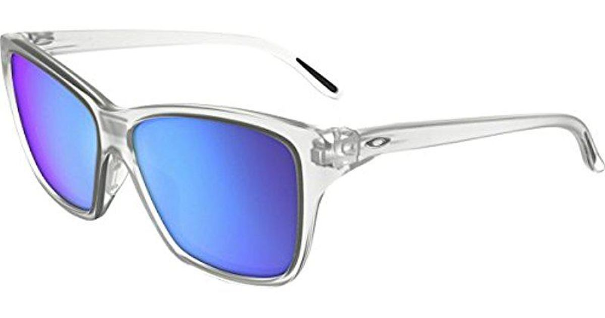 762532c9105 Lyst - Oakley Hold On Oo9298 Non-polarized Cateye Sunglasses in Blue