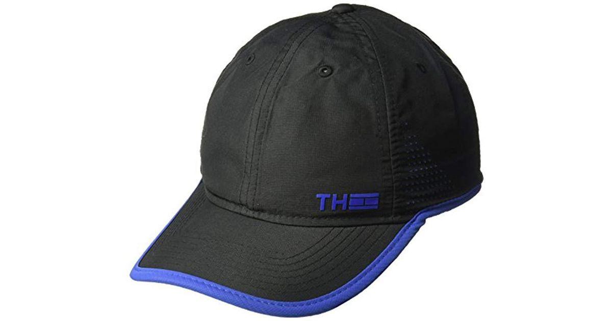 1f769dae Lyst - Tommy Hilfiger Flag Sport Dad Hat, Black, One Size in Black for Men