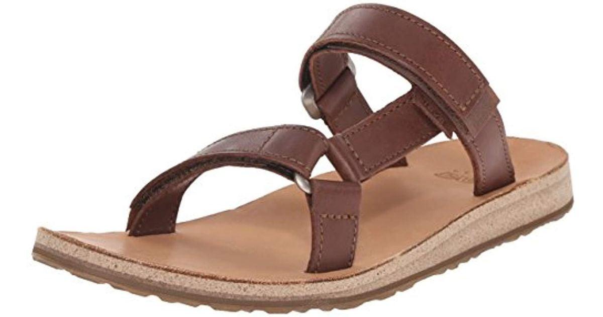 4dd831626 Teva Universal Slide Leather Sandal in Brown - Lyst