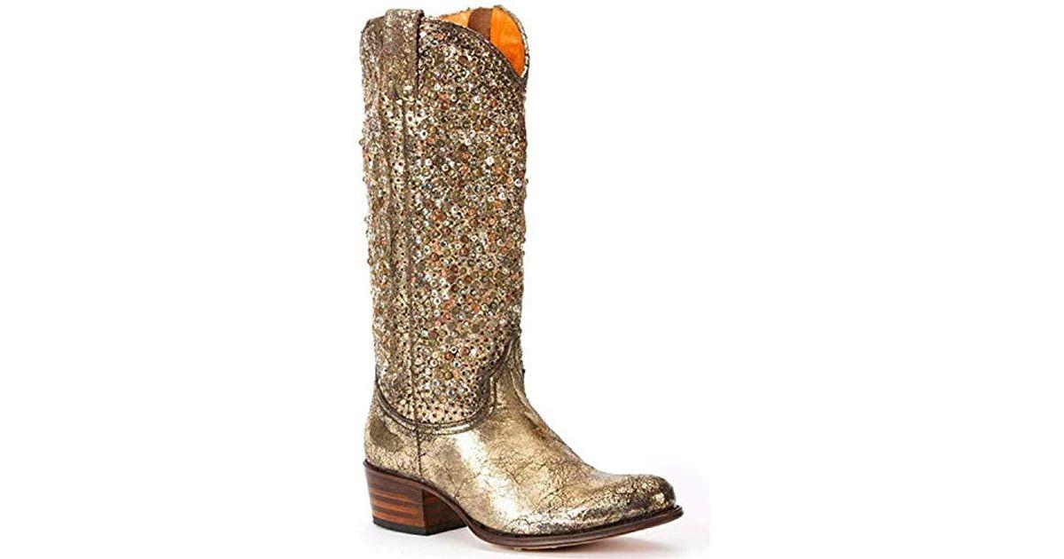75168741c5e9 Lyst - Frye Deborah Studded Tall Western Boot - Save 1%