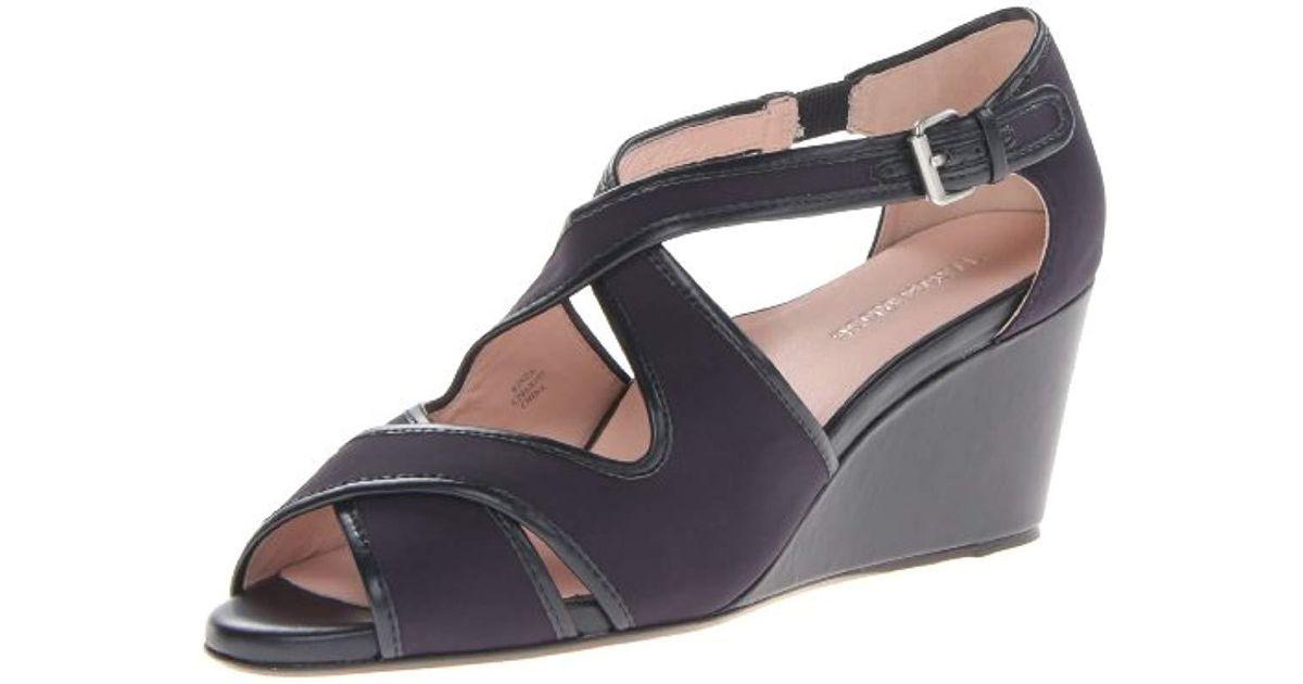 2ab71201d9b Lyst - Taryn Rose Kinza Wedge Sandal in Blue - Save 30.95238095238095%