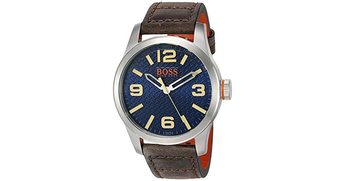 Lyst - BOSS Orange  paris  Quartz Stainless Steel And Beige Leather Casual  Watch (model  1513352) in Metallic for Men - Save 20% 3dc08321694