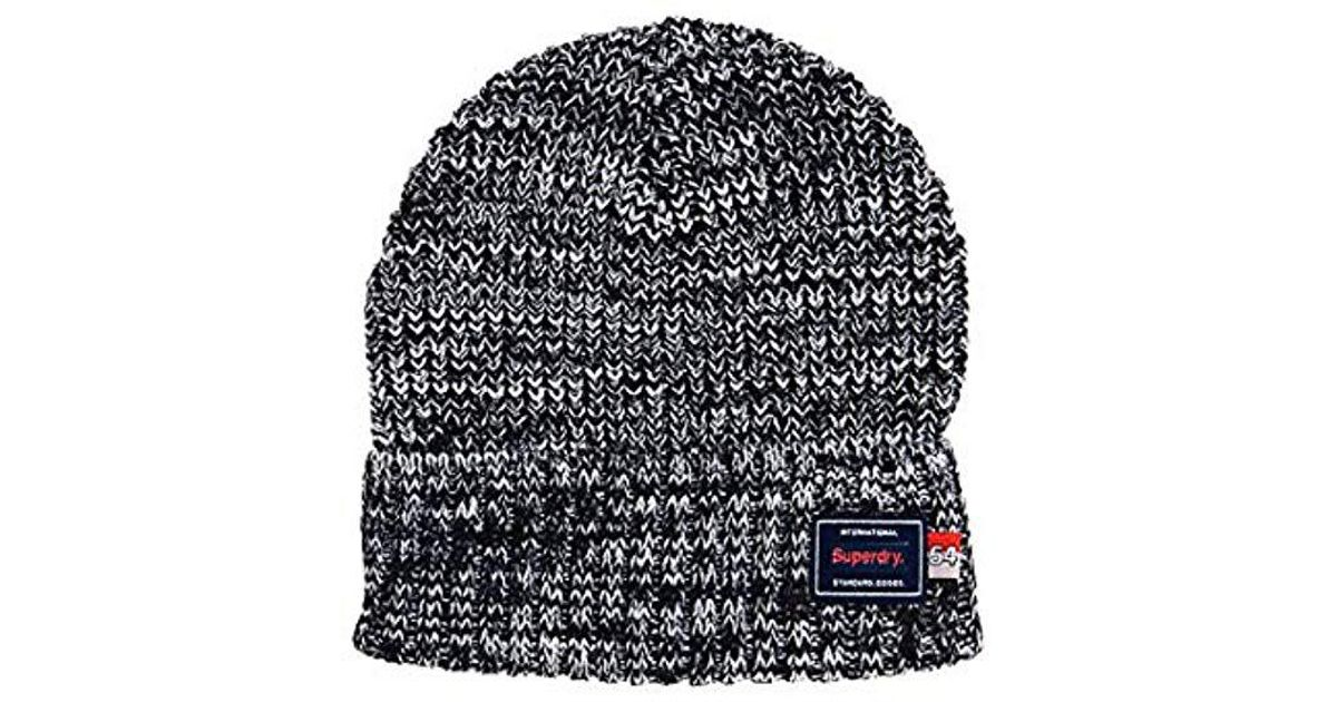Superdry Stockholm Beanie in Blue for Men - Lyst dadf43015192