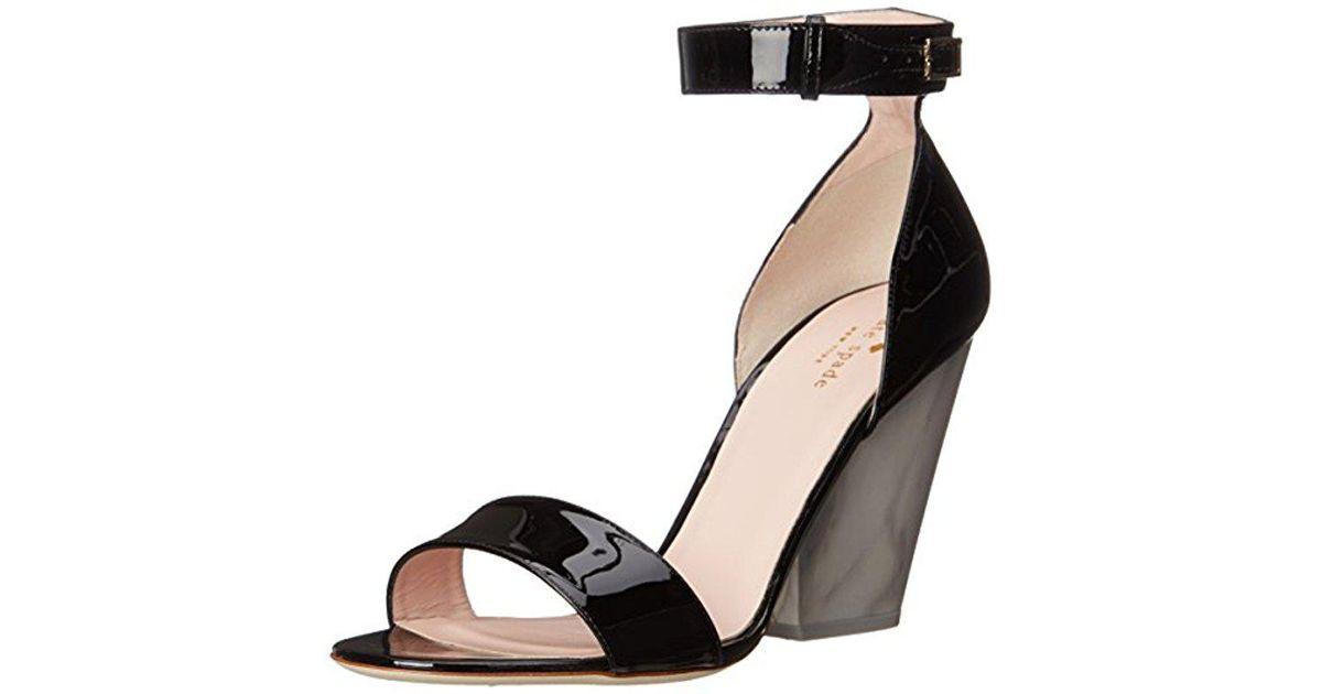 65f37aa029a Lyst - Kate Spade Indiana Wedge Sandal in Black