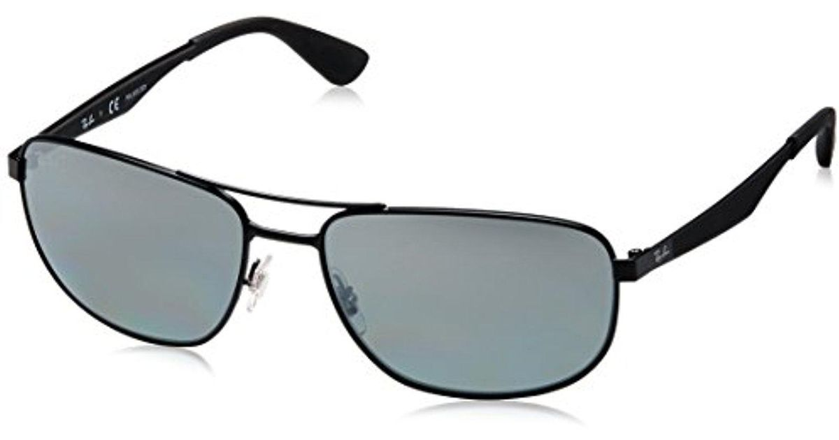 d6259a5db2b Lyst - Ray-Ban Metal Man Sunglass - Matte Black Frame Grey Mirror Silver  Grad Polar Lenses 61mm Polarized in Black for Men