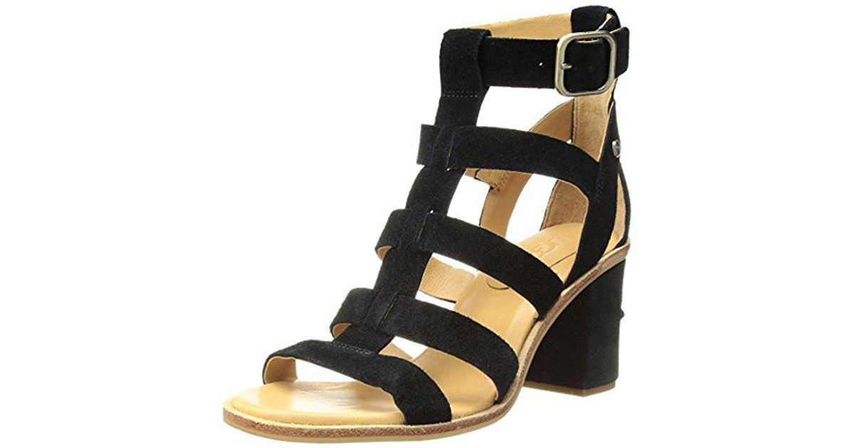 82e1feca6 Lyst - UGG Macayla Heeled Sandal in Black - Save 34%