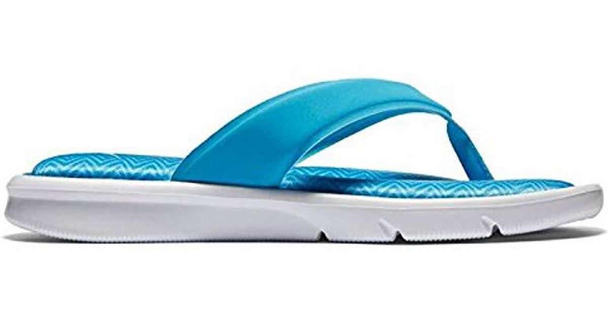 7a66697909b Lyst - Nike Ultra Comfort Thong Sandal in Blue