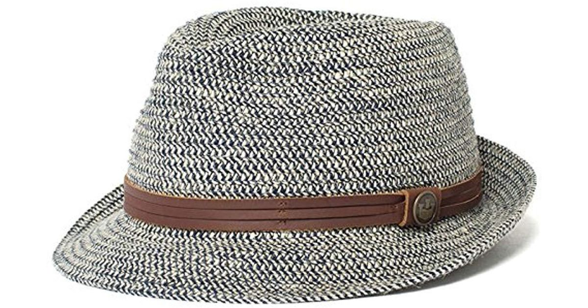2158e721df2ce Lyst - Goorin Bros Laying Low Hemp Blend Fedora in Blue for Men - Save 22%